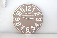 Часы Париж (пастельно-коричневые)