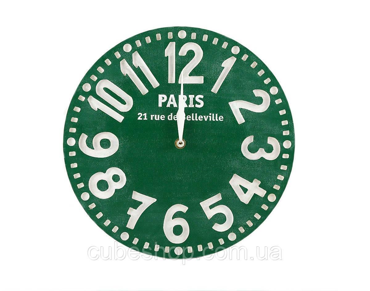 Часы Париж (зелёный)