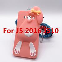 Розовый кролик Samsung Galaxy J5(J510) 2016 года чехол Moschino