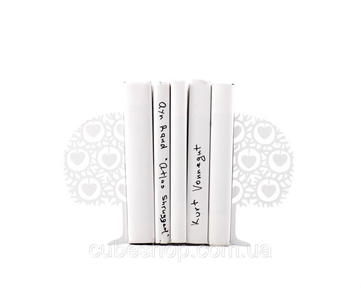 Книжные держатели Влюбленное дерево (белое)