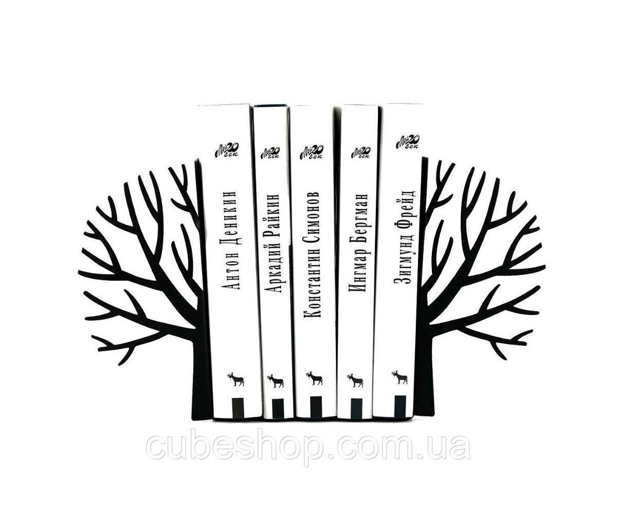Упоры для книг Зима (чёрное)