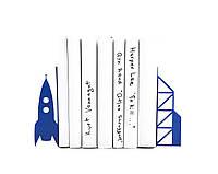 Держатели для книг Полёт на луну (синий), фото 1