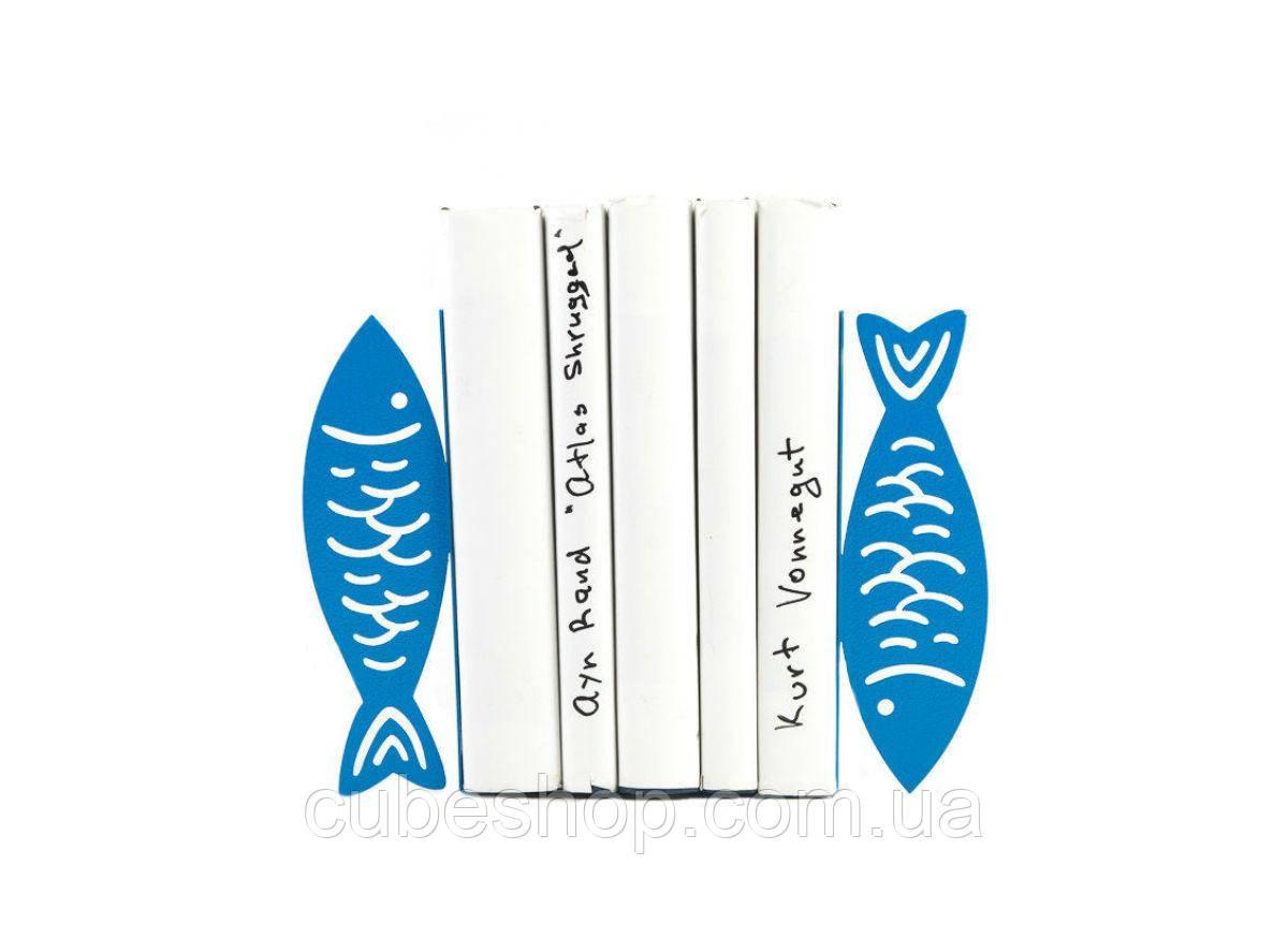 Упоры для книг Рыбы (синие)