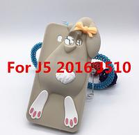 Серый кролик на Samsung Galaxy J5(J510) 2016 года чехол Moschino