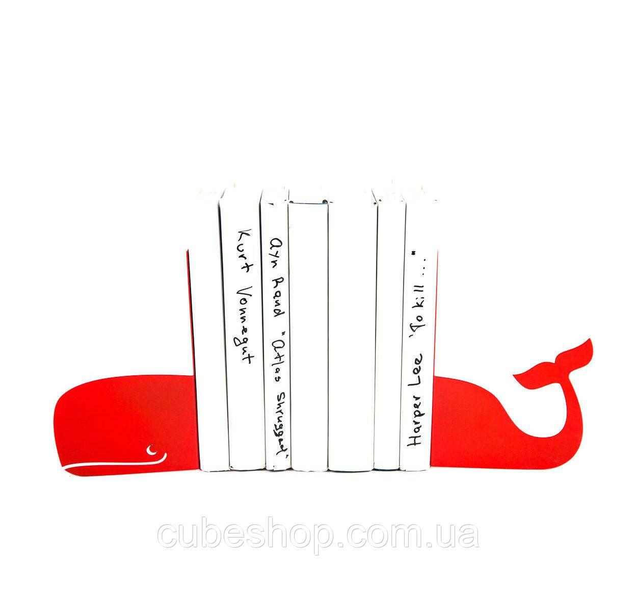 Упоры для книг Кит (красный)