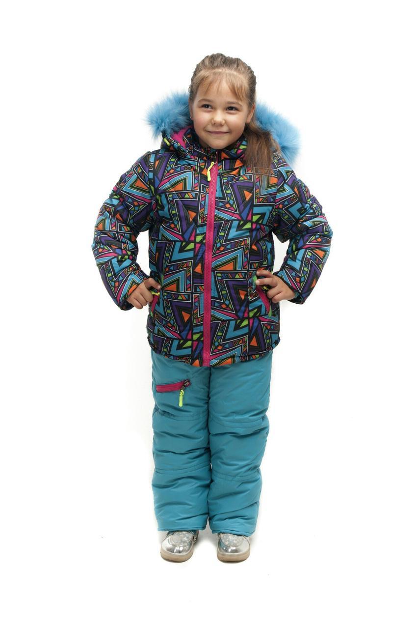 Зимний полукомбинезон+куртка для девочки Фантазия