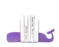Упоры для книг Кит (фиолетовый)