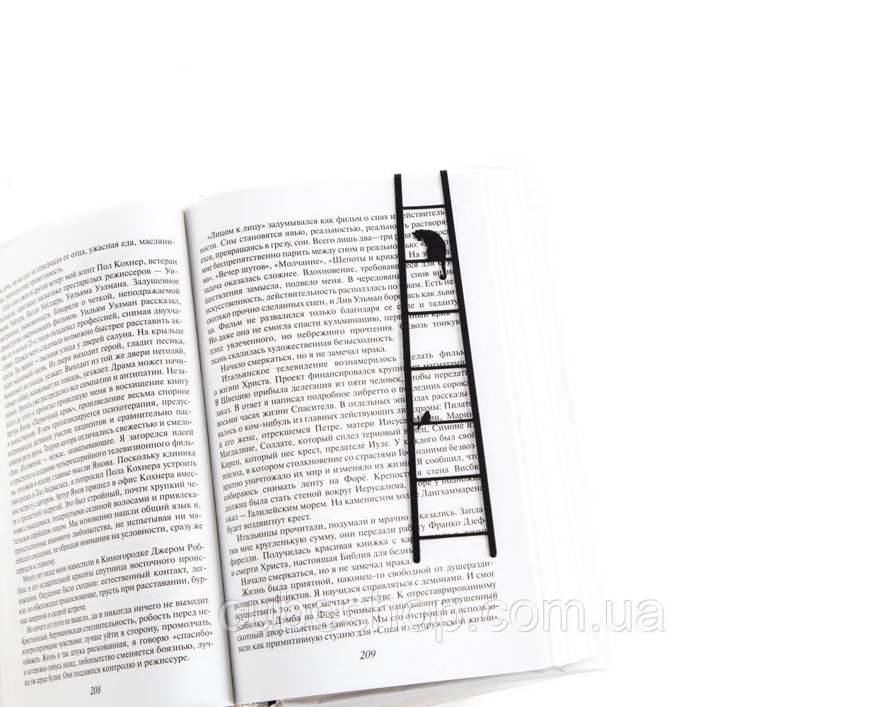 Закладка для книг Кошка и птичка