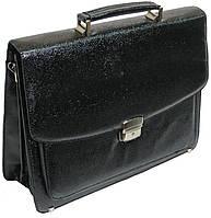 Мужской портфель из искусственной кожи под змею черный B7808 black