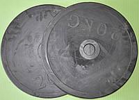 Бліни для штанги обрезинені 52мм 20кг ТА-1449