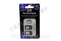Адаптер 3в1 Nano, Micro Sim + iСкрепка