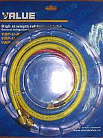Заправочные шланги для фреона Value VRP-0,9 R-410 (компл. 3 шт.)
