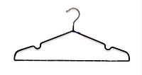 Плечики вешалка металлическая в силиконе тонкая