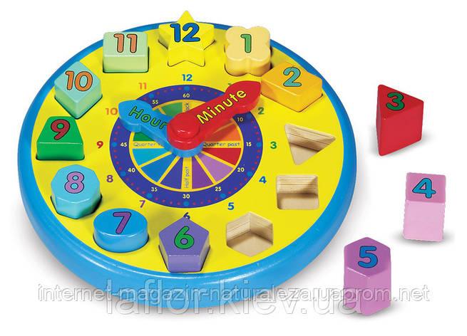 Игрушка деревянная Часы-сортировщик Melissa&Doug, фото 2