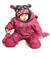 Зимний термокомбинезон для девочки 6 мес -2 лет, р. 68-92 ТМ Peluche&Tartine Secret Pink F17 M 108 BG