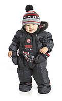 Зимний термокомбинезон для мальчика 6 мес -2 лет, р. 68-92 ТМ Peluche&Tartine Deep Grey F17 M 107 BG
