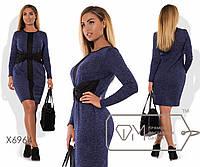 Женское платья трикотажное ангора больших размеров 48-54 арт 6964