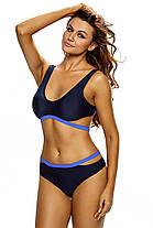Купальник раздельный спортивный синий, фото 3