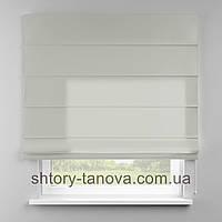 Римская штора 160x170 см из однотонной ткани, кремовый, полиэстр