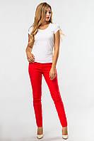 Красные брюки зауженные женские