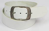 Ремень кожаный белого цвета Vanzetti
