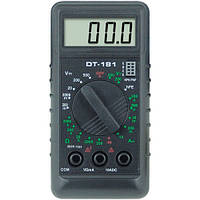 Компактный мультиметр dt-181, тестер цифровой, небольшой вес и размеры, щупы в комплекте, фото 1
