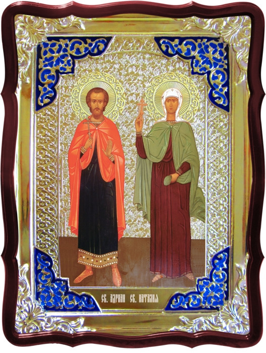 Православні монастирі з іконами Святих Адріана і Наталії