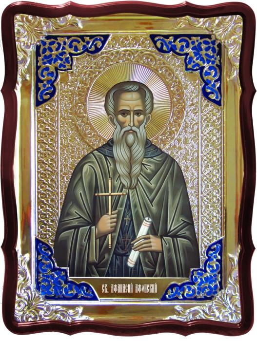 Изображение святых на церковных иконах: Святой Афанасий Афонский