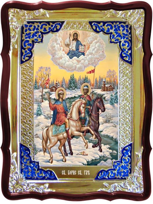 Смотрите изображения икон и их названия Святой Борис и Глеб