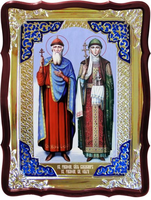 Православные иконы в доме: Святые Владимир и Ольга