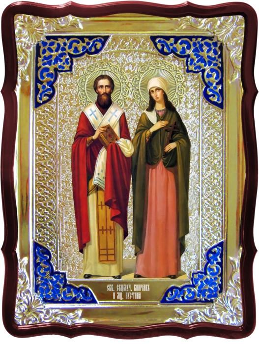 Наши иконы в церкви красиво смотряться - Святые Киприан и Иустина