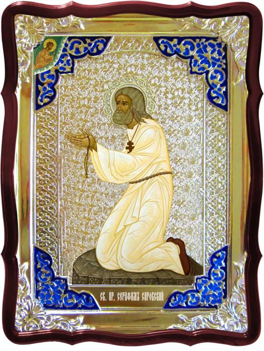 Ікони святителів Святий Серафим на камені (віз)