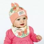 """Детский демисезонный комплект (шапочка+манишка) для девочки """"Мюзикл"""", DemboHouse (ДембоХаус)"""