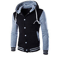 Спортивная мужская куртка с капюшоном,  спортивная теплая кофта, чоловіча спортивна курточка