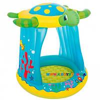 Детский надувной игровой центр с навесом Черепаха Bestway BW 52219