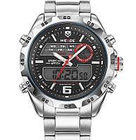 Кварцевые мужские часы Weide Respect Silver