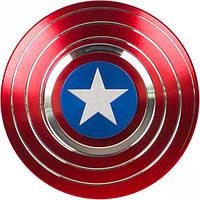"Спиннер ""Капитан Америка"" металл красный D-001"