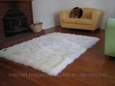 Прямоугольные ковры из шкур овчины, ковры из овчинки