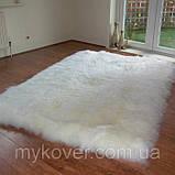 Прямоугольные ковры из шкур овчины, ковры из овчинки, фото 2