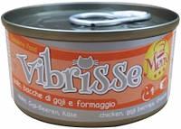 C1018073 Vibrisse Menu Консервы для кошек с курицей,ягодами годжи и сыром, 70 гр