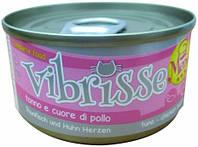 C1018081 Vibrisse Menu Консервы для кошек с тунцом и куриными сердечками, 70 гр