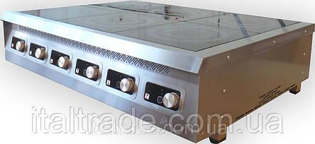 Индукционная плита настольная 6 конфорок по 3,5 кВт, фото 2
