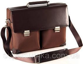 Деловой портфель кожа/нейлон Fouquet NBC-1001B коричневый