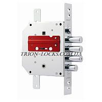 Замки для металлических дверей врезной BORDER врезной ЗВ9-6Л\15 КТЗ 77428  ( 012 левый с тягами)