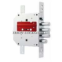 Замки для металлических дверей врезной BORDER врезной ЗВ9-6П\15 КТЗ 77418  ( 012 правый с тягами)