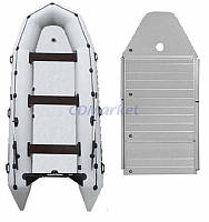 Kolibri Акция! Лодка надувная моторная Kolibri КМ-400DSL и алюминиевый пайол со стрингерами. В подарок любые аксессуары к лодке на сумму 3% от