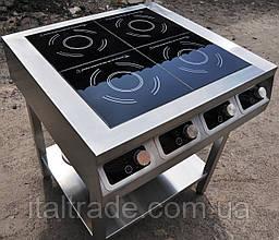 Индукционная плита напольная 4 конфорки по 1,8 кВт