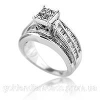 Женское кольцо из белого золота с бриллиантами С10Л1№51