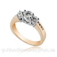 Женское кольцо из желтого золота с бриллиантами С10Л1№49