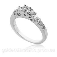 Женское кольцо из белого золота с бриллиантами С10Л1№8